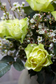 Rosa and Chamelaucium bouquet