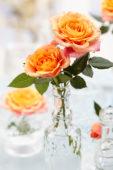 Roses in vases