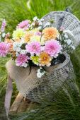 Dahlia bouquet pastel