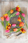 Tulipa wreath