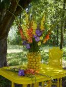 Vaas met gladiolen