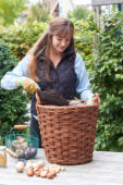 Adding soil to basket