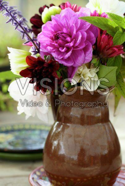 Dahlias in vase