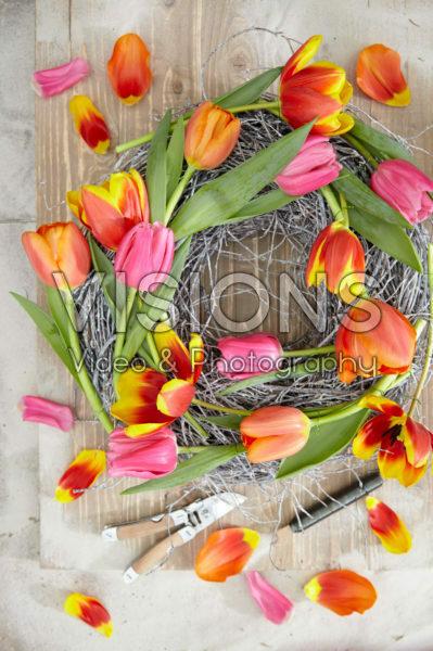 Tulipa wreath