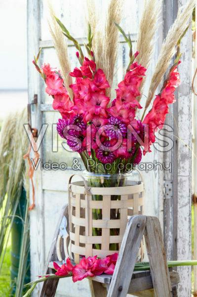 Gladiolus and Dahlia bouquet
