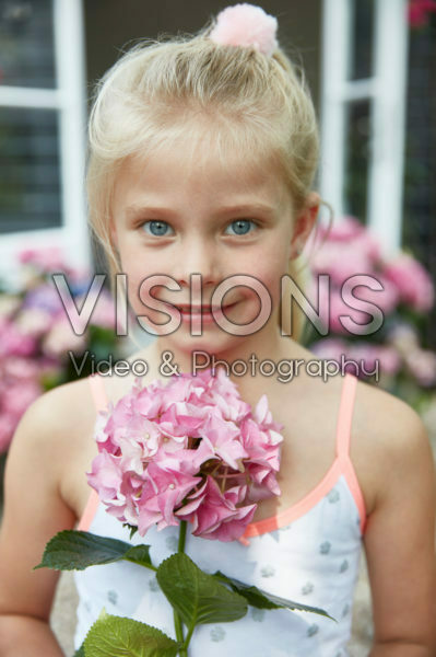 Girl with Hydrangea