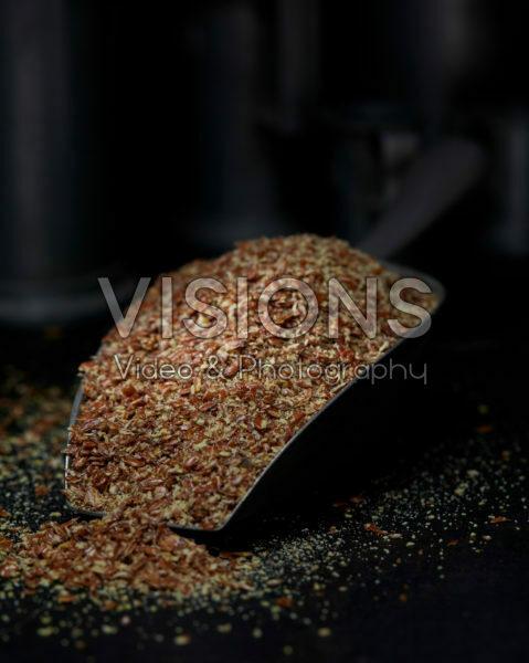 Broken flax seeds
