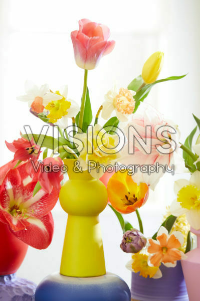 Mixed flowers in vase