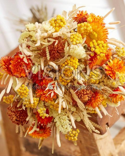 Dried flowers bouquet